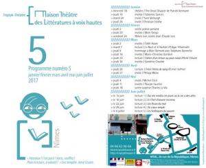 Saison 5 Maison Théâtre des Littératures