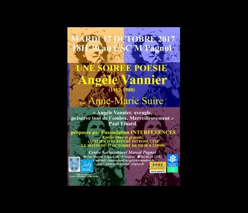 Soirée poésie Angèle Vannier
