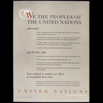 50 états adoptent la charte des Nations Unies
