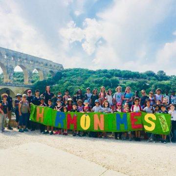 Harmonimesenscène au Pont du Gard