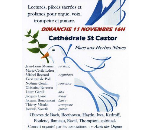 Un concert pour la paix