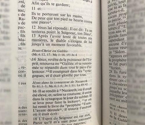Predic de Jésus à Nazareth
