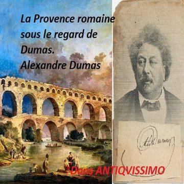Dumas. Dumas Alexandre, en visite à Nîmes