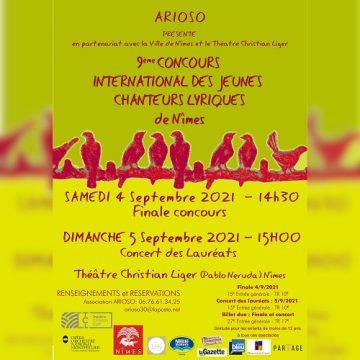 9ème Concours international des jeunes chanteurs lyriques -Nîmes